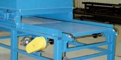 pallet stacker with chain conveyor infeed